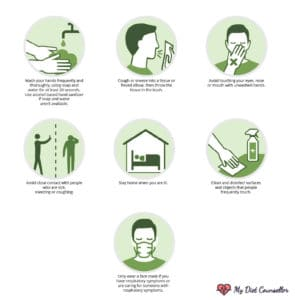 Coronavirus Preventative Measures And Safety Tips Infographic